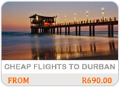 cheap flights to Durban
